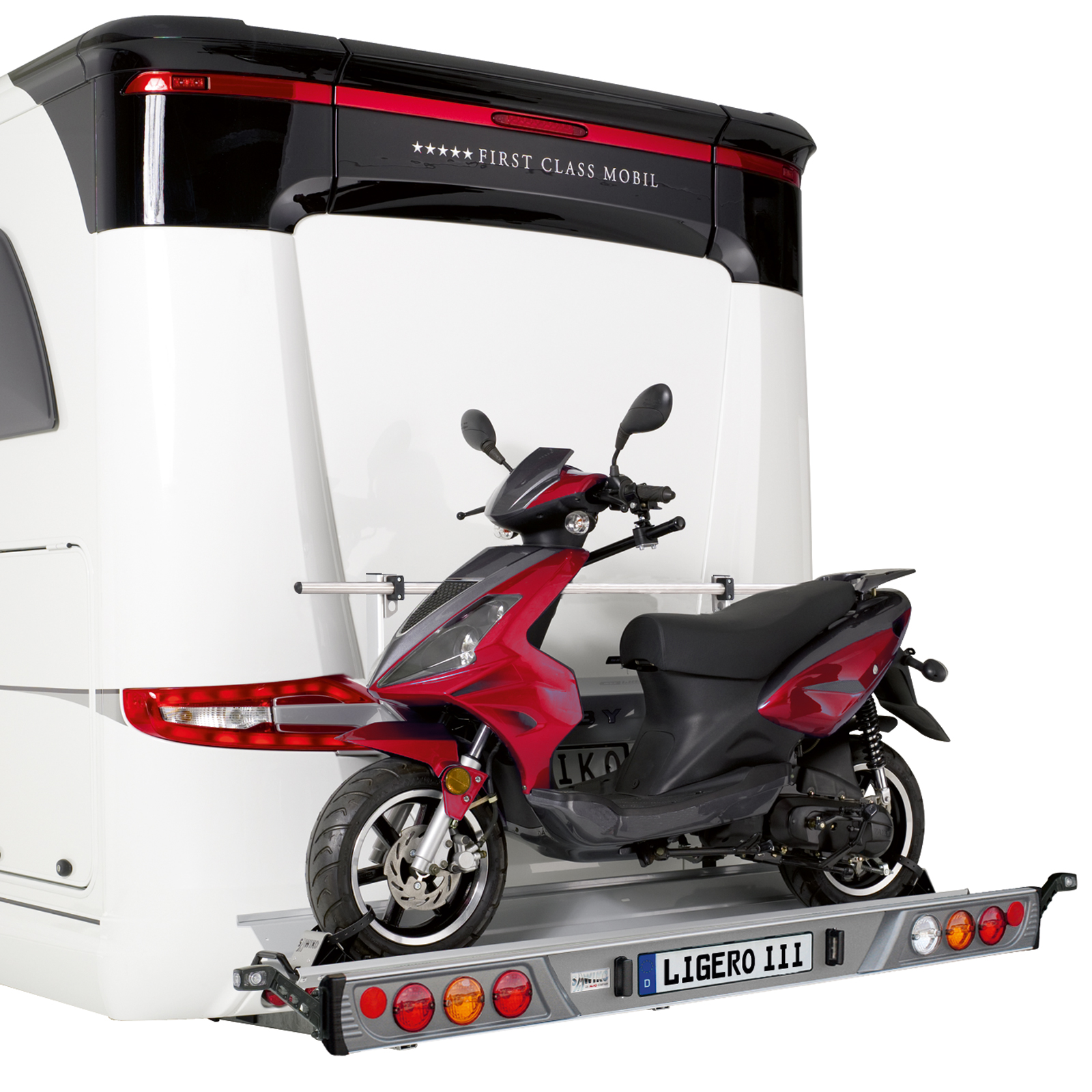 ligero iii der variable motorradtr ger f r wohnmobile. Black Bedroom Furniture Sets. Home Design Ideas